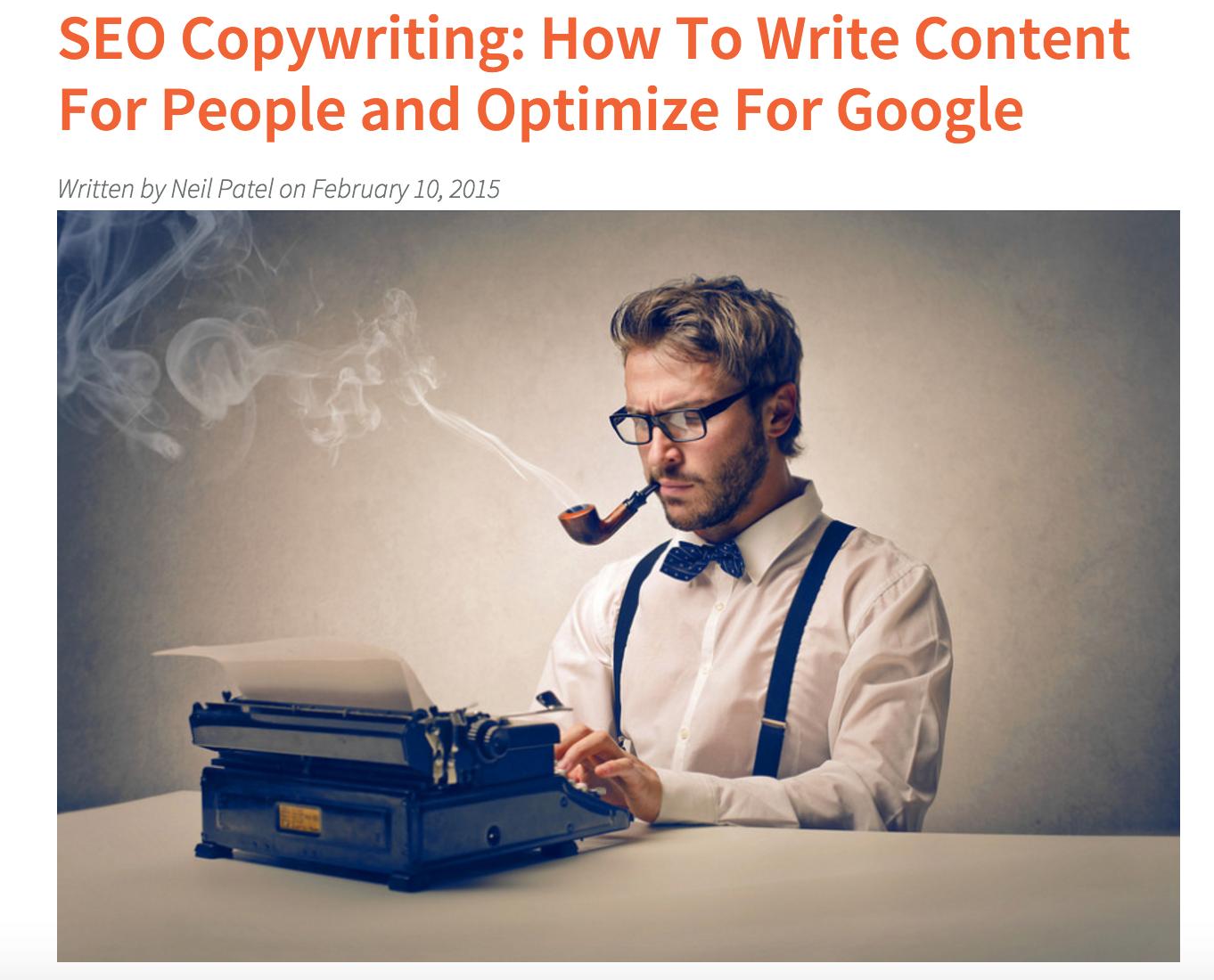 neil patel blog post on seo copywriting